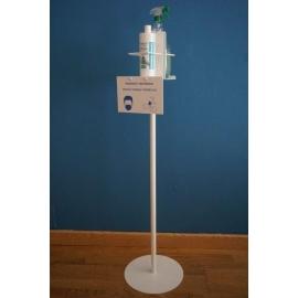 Soporte dispensador gel hidroalcoholico y desinfectante